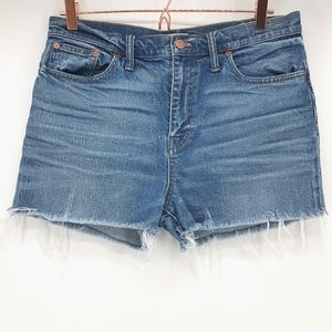 Madewell High Rise Denim Cut Off Shorts
